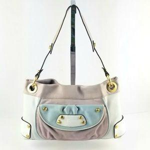B. Makowsky Multi color Block Leather Shoulder Bag